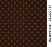 seamless chocolate brown... | Shutterstock .eps vector #281333714