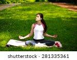 Sportive Young Woman Relaxing...