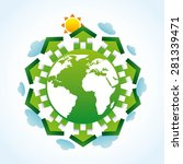 eco landscape design  vector... | Shutterstock .eps vector #281339471