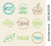 vector labels in trendy mono... | Shutterstock .eps vector #281342039
