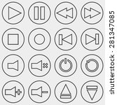 media player outline icons | Shutterstock .eps vector #281347085