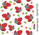 spring seamless pattern with... | Shutterstock .eps vector #281347259