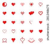 heart icon set | Shutterstock .eps vector #281348675