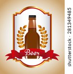 cold beer design  vector... | Shutterstock .eps vector #281349485