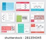 brochure design in modern... | Shutterstock .eps vector #281354345
