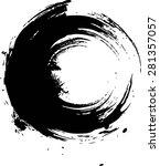 vector vintage grunge brush... | Shutterstock .eps vector #281357057