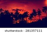 sunset on the beach. resort....   Shutterstock . vector #281357111