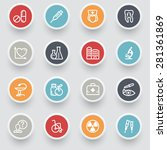 medicine contour icons with... | Shutterstock .eps vector #281361869