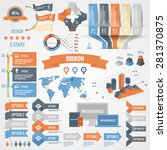 infographics set with options.... | Shutterstock .eps vector #281370875