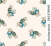 bee cartoon   cartoon seamless... | Shutterstock .eps vector #281378945
