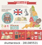 england travel concept.... | Shutterstock .eps vector #281385521