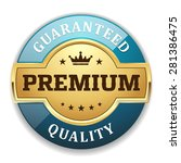 gold premium quality badge with ... | Shutterstock .eps vector #281386475