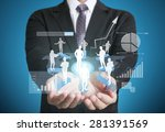 businessman with financial... | Shutterstock . vector #281391569