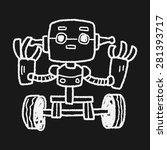 robot doodle   Shutterstock .eps vector #281393717
