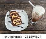 ice cream coffee cake on with... | Shutterstock . vector #281394824