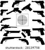 vector illustration of pistols... | Shutterstock .eps vector #28139758