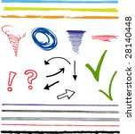 doodles  scribbles  arrows ... | Shutterstock .eps vector #28140448