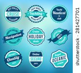 collection of retro vintage... | Shutterstock .eps vector #281427701