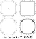 frame border design vector art | Shutterstock .eps vector #281438651