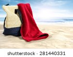 Bag And Red Towel