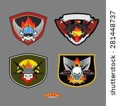 special unit military logo set. ... | Shutterstock .eps vector #281448737