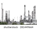 Oil Refinery Isolate On White...