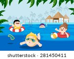 flat vector illustration of... | Shutterstock .eps vector #281450411