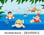 flat vector illustration of... | Shutterstock .eps vector #281450411