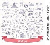 hand drawn business doodles.... | Shutterstock .eps vector #281451494