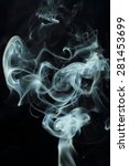 smoke on a black background | Shutterstock . vector #281453699