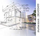 3d rendering of a luxurious... | Shutterstock . vector #281455499