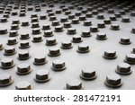 bolts on a fragment of a... | Shutterstock . vector #281472191
