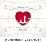 creative poster   love around...   Shutterstock . vector #281475764