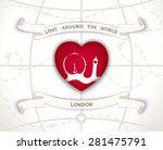 creative poster   love around...   Shutterstock . vector #281475791