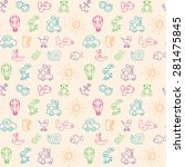 seamless baby background  | Shutterstock .eps vector #281475845
