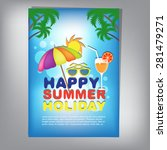 summer brochure | Shutterstock .eps vector #281479271