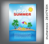 summer brochure | Shutterstock .eps vector #281479304
