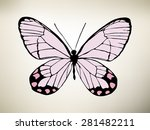butterfly. vector illustration | Shutterstock .eps vector #281482211