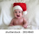 baby with santa hat on   Shutterstock . vector #2814860