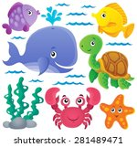 ocean fauna thematic collection ...   Shutterstock .eps vector #281489471
