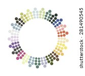 abstract colorful circle.... | Shutterstock .eps vector #281490545
