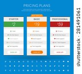 vector pricing table in flat... | Shutterstock .eps vector #281491061