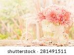 Gerbera Flowers In The Basket...