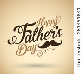 happy fathers day background | Shutterstock .eps vector #281491841