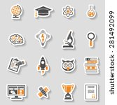 online education and e learning ...   Shutterstock .eps vector #281492099