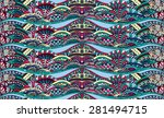 color continuous pattern with... | Shutterstock .eps vector #281494715