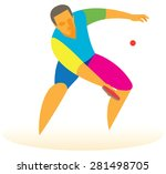 table tennis player | Shutterstock . vector #281498705