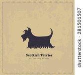 Vintage Scottish Terrier Poster....