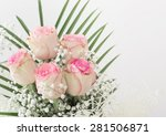 wedding bouquet with roses | Shutterstock . vector #281506871