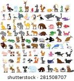set of cute cartoon animals | Shutterstock .eps vector #281508707